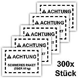 300x Schweres Paket Aufkleber, Groß 15x10cm, Kennzeichnung schwerer Pakete für Versand an Amazon FBA, 300 Stück