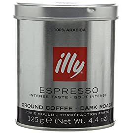 illy Dark Roast Ground Espresso Coffee 125 g