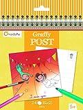 Avenue Mandarine Funfair/Thema Zirkus Graffy Post Farbe Ihre eigenen Postkarte (schwarz/weiß)