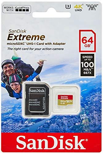 Foto SANDISK - Scheda Di Memoria Extreme microSDHC 64 GB I Archiviazione File...