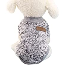 Tongshi 8 color perro mascota cachorro clásico suéter polar suéter ropa caliente suéter de invierno