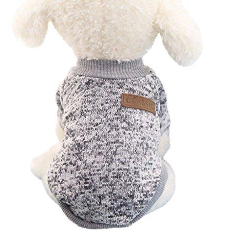 Tongshi 8 color perro mascota cachorro clásico suéter