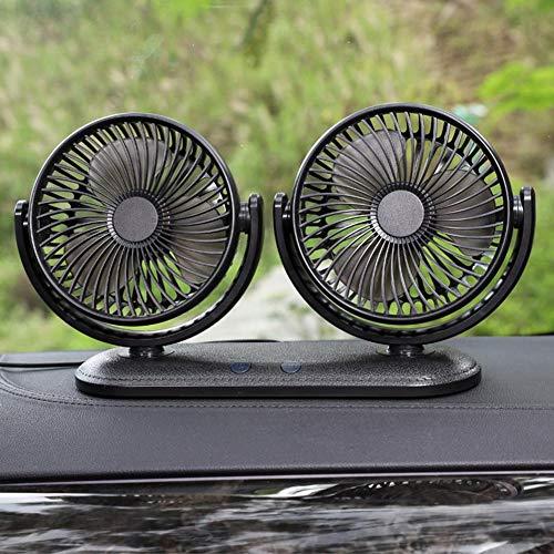 per Doble Cabezal Ventilador para automóvil USB Ventilador eléctrico 360 Rotación de...