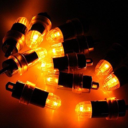 Mini batteriebetriebener LED Ballon beleuchtet nicht blinkende Partei beleuchtet für Papierlaterne-Ballon-LED Licht, Papierlaterne-Ballon-Dekoration LED-Licht, Hochzeits-Party-Dekorations-Licht (Pack of 12) (Gelb)