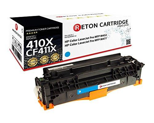 Preisvergleich Produktbild Original Reton Toner | 25% höhere Druckleistung |kompatibel, Cyan als Ersatz für HP CF411X , CF411A für HP Color LaserJet MFP 477fdn, 477fnw, 452dn, 452nw, 377dw