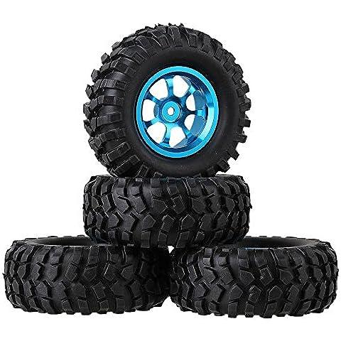 Youzone RC 01:10 Rock Crawler auto di gomma nera Simulazione