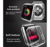 #7: Oaky - Apple Watch 42mm Case Series 1/2/3 [Lightweight Fit] Soft TPU Candy Skin [Anti-Shock] Transparent Ultra-Thin Protective Bumper Case Cover Compatible with iWatch 42mm Case for Series 1, Series 2 , Series 3 [Clear]