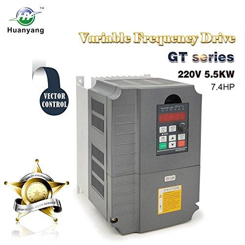 Vektorregelung ,Computerized Numerical Control (CNC), Frequenzumrichter (VFD),der Motor Inverter Konverter 220V 5.5KW 7.5PS für Spindelmotor, Kontrolle der Geschwindigkeit,Huanyang GT –Serie (220V,5.5KW). - 0,25 Ps Motor