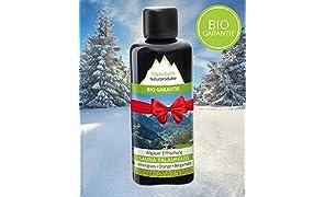 Saunaaufguss mit 100% BIO-Öle Erfrischung Lemongrass Orange Bergamotte (100ml). Natürlicher Sauna-aufguss m. ätherische Sauna-Öle im Aufguss-Mittel. Saunaöl natrurrein und biologisch.