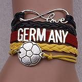 WEI Armband World Cup Nationalmannschaft Persönlichkeit Schmuck Armband Fan Geschenk,Deutschland,Einheitsgröße