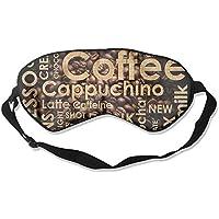 Eye Mask Eyeshade Coffee Words Design Sleep Mask Blindfold Eyepatch Adjustable Head Strap preisvergleich bei billige-tabletten.eu