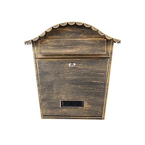 DYFYMX Briefkasten im Freien mailbox europäischen wand schmiedeeisen kreative outdoor wasserdicht mit lock zeitungsbox einfache wandbehang Briefkasten im Freien,