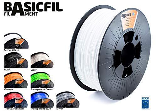Produktbild BASICFIL PET 1.75mm 1 kg,  WEIß (white),  3D Drucker Filament