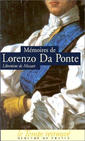 Mémoires (1749-1838), par le librettist...