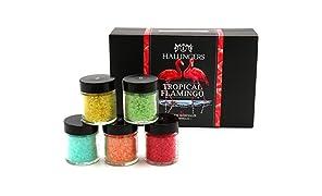 Hallingers Badesalz Mix Tropical Flamingo | Set/Mix | 5x Miniglas in MiniDeluxe-Box | 175g