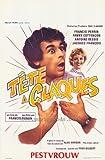 Pop Culture Graphics a Tete claques Poster Movie belge 11 x 17 à 28 x 44 cm Francis Perrin Fanny Cottençon Antoine Bessis Geneviève Fontanel Maurice Baquet