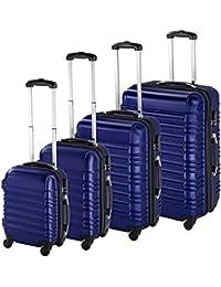 TecTake Set de 4 valises de Voyage de ABS avec Serrure à Combinaison intégrée | poignée télescopique | roulettes 360° - diverses Couleurs au Choix -
