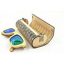 farway 1pieza Caja de madera de bambú para gafas de sol funda