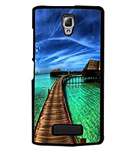 PrintDhaba Beautiful Scene D-1238 Back Case Cover for LENOVO A2010 (Multi-Coloured)