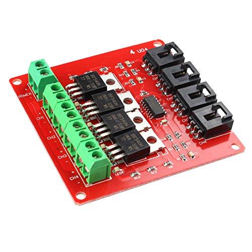 Haljia IRF540 MOSFET-Tasten-Modul für Arduino 4-Kanal (Mosfet-modul)