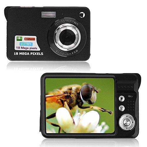 TOPmountain 720P 8X Zoom Hd Digitalkamera Digitale Videokamera Point and Shoot Digitalkamera Für Kinder Im Freien - Schwarz Digitale Point-and-shoot-camcorder