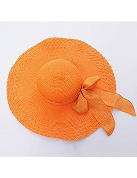 pllp Sombrero del sol del sombreado del turismo de vacaciones, sombrero de paja del arco, sombrero de playa plegable...