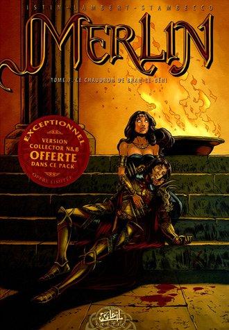 Merlin, Tome 7 : Le Chaudron de Bran-le-Béni : Avec la version collector N&B par Jean-Luc Istin