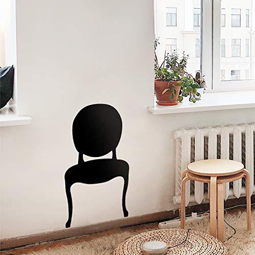Modern Studio (Vinyl-Wandaufkleber - Stuhl-Silhouette - 101,6 x 55,9 cm - Modern Trendy Elegant Store Boutique Home Wohnzimmer Schlafzimmer Büro Indoor Wohnung Studio Outdoor Dekoration Modern 40