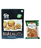 #9: GO Kashmiri Walnuts 1 Kg & 3 Star Mamra Almond (Badam) 250 gm Pack of 2