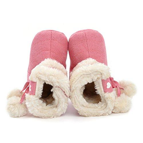 ESTAMICO , Chaussures souples pour bébé (fille) gris gris 3-6 mois rose