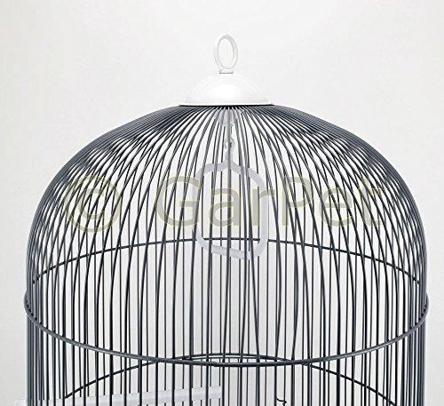 Vogelkäfig Komplett Papagei Vögel Käfig Papageienkäfig Vogelbauer Vogelheim rund weiß