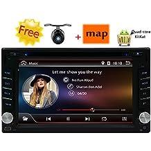 Android 4.4 autoradio universale Headunit 6.2inch Dash 2Din Unit¨¤ principale quad-core CPU 1.6GHZ 8G Car DVD Player FM AM RDS Radio Receiver supporta Bluetooth 3G / Wifi 3D di navigazione GPS + Free telecamera per la retromarcia