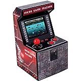 ITAL Mini arkadmaskin/bärbar mini-konsol med retro design och 250 spel/16 bitar/perfekt som en nörd gåva för barn och vuxna (
