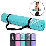 Core Balance Foam Yoga Exercise Mat, Non-Slip, 6mm Thick, Home Gym Workout Pilates