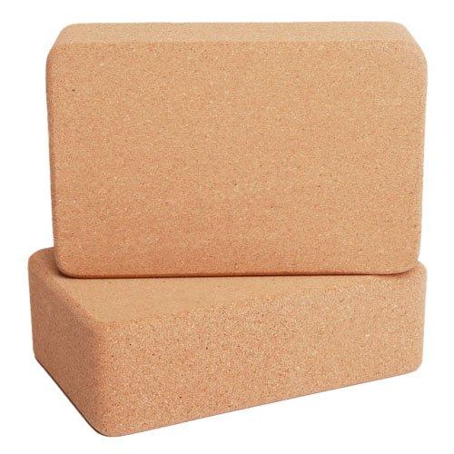 Durable 100% blocs de yoga en liège naturel (maniable, surface antidérapante), 2 blocks