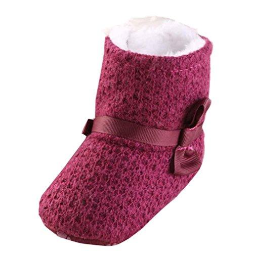 Yogogo - Bébé à tricoter Bottes - coton doux Sole - Bottes de neige - Crib souples Chaussures - Bottes Toddler