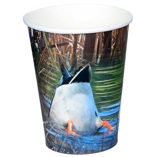 Duck Jagd Partybecher (Hot/Cold, 12oz, Papier, 8Stück) Bottoms Up, Stockenten Ente Teich Collection von havercamp