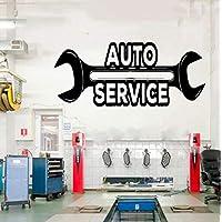 xingzhi Car Auto Repair Logo Auto Service Vinyl Sticker Roll, Tires, Repair,Car Studio Shop Window Sticker Waterproof 98X42Cm