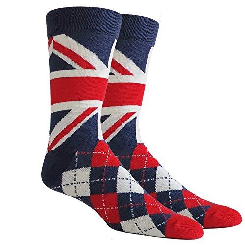 Mens Union Jack Ademend Sokken Katoen Rijk UJ Britse vlag s Grootte: UK 7-11, US 8-12 en EU 41-46 London Souvenir Voetbal Sokken -