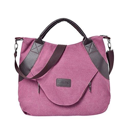 Rucksack Erwachsene Taktischer Trekkingrucksacke Reiserucksack Outdoor Wanderrucksacke,Retro Frauen Canvas Reißverschluss Umhängetaschen mit Corssbody Bag & Handtasche(WA) -
