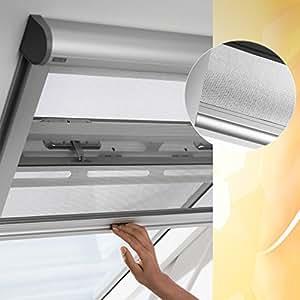 Velux Original ZIL M06 0000 Moustiquaire pour lumière Avec glissières en aluminium et tissu perforé gris Coupure dans le toit jusqu'à 76 x 200cm