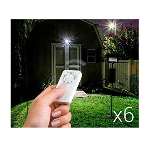 6 x LED Lampen mit Fernbedienung diverse Funktionen überall anbringbar Mini LED SET