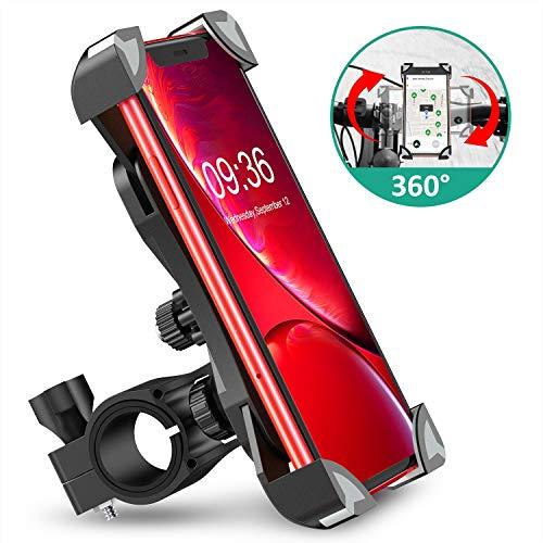 """Cocoda Soporte Movil Bici, 360° Rotación Soporte Movil Moto Bicicleta, Anti Vibración Porta Telefono Motocicleta Montaña para iPhone 11 Pro Max/XS Max/XR, Samsung S10/S9 y Otro 4.5-7.0\"""" Móvil"""