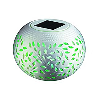 Aeeque Solar Powered Ceramic Color Changing Garden Solar Star LED Light for Garden, Patio, Party, Yard, Outdoor/Indoor Decorations