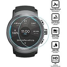 BlueBeach® 2 Piezas LG Watch Sport Protector de Pantalla Vidrio Templado (0.3mm 2.5D 9H Dureza)