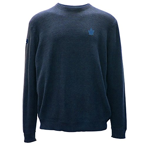 Levelwear LEY9R NHL Muskoka Crew Optik Crest Crewneck Pullover, Herren, Muskoka Crew Optic Crest Crewneck Sweater, Indigo, Large (Hockey Crewnecks)