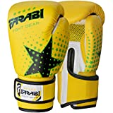 Farabi Kinder Boxhandschuhe, MMA, Muay Thai Junior Boxsack Handschuhe Gelb 170,1