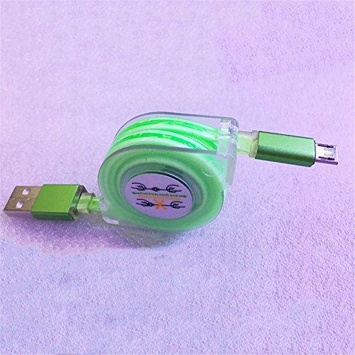 Preisvergleich Produktbild Outstanding® 3FT LED Licht langlebig Micro USB Kabel versenkbare USB-Kabel Ladegerät Daten Sync-Kabel für Samsung Galaxy S4 / S5 Mini / S6 / S6 Edge / J3 / J5 / J7