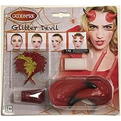Generique - Kit de Maquillaje Demonio Mujer Halloween