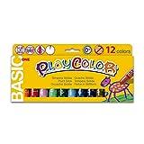 Instant - Playcolor - Gouache Solide en stick - 12 couleurs - 10 g